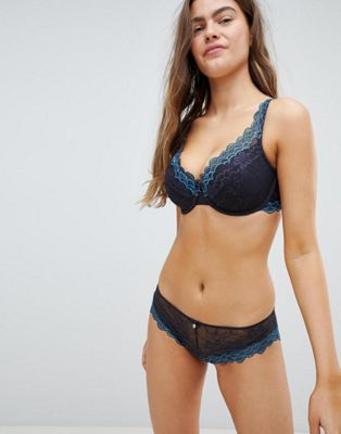 Boux Avenue Scallop Lace Plunge DD-G Cup Bra & Brief Set