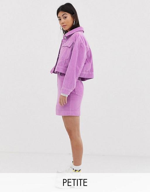 COLLUSION Petite cord jacket & mini skirt two-piece