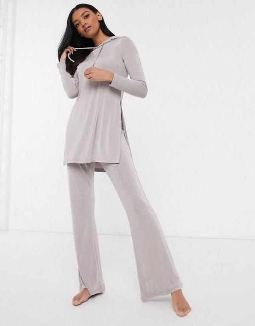 Conjunto confort de pantalones de campana y sudadera ajustada con capucha Mix & Match de ASOS DESIGN