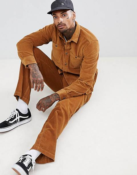 Dickies cord two-piece in brown