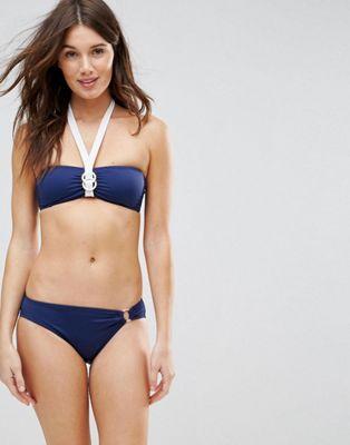 Dorina Soft Bandeau Navy Ring Bikini