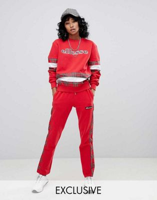 Ellesse Relaxed Sweatshirt & Tracksuit Bottoms Co-Ord