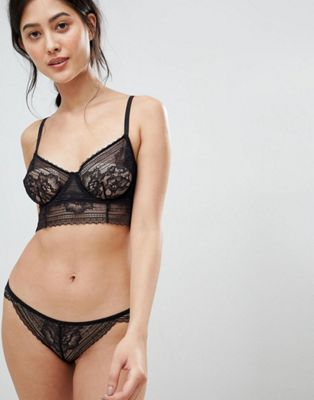 Free People Sorento Longline Bralette & Brief Lingerie Set
