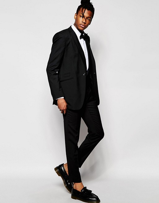 Hart Hollywood by Nick Hart Black Suit in Slim Fit