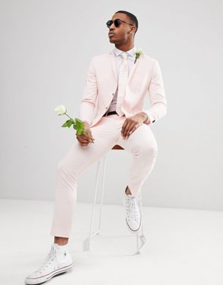 Jack & Jones Premium - Abito skinny rosa polvere