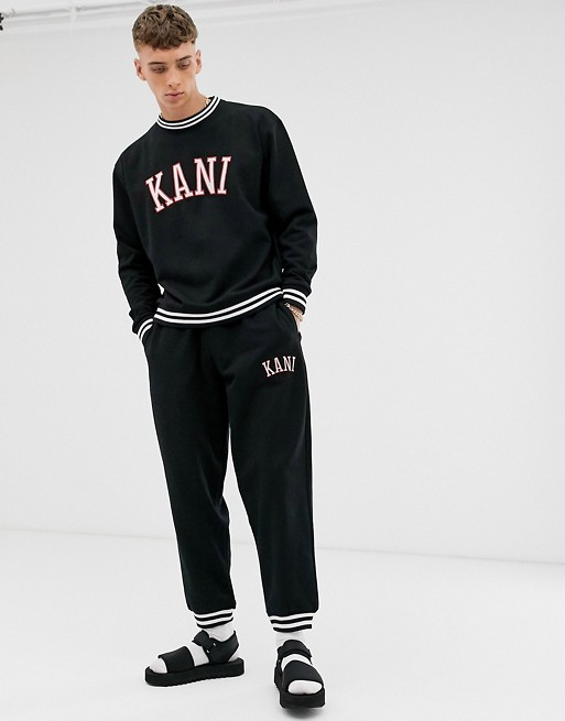 Karl Kani College sweatsuit in black