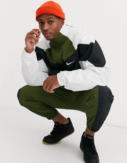 Nike - Re-Issues - Survêtement à fermeture éclair - Kaki