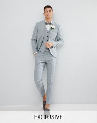 Noak Slim Stretch Wedding Suit In Donegal
