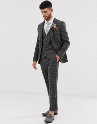 River Island suit in dark brown