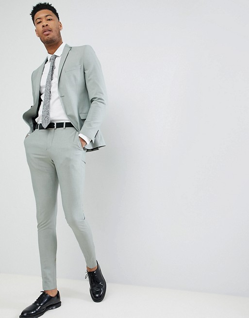 40ea68bf5846e3 Selected Homme TALL Skinny Fit Suit In Green | ASOS