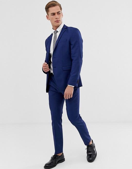 Синий облегающий костюм Jack & Jones Premium