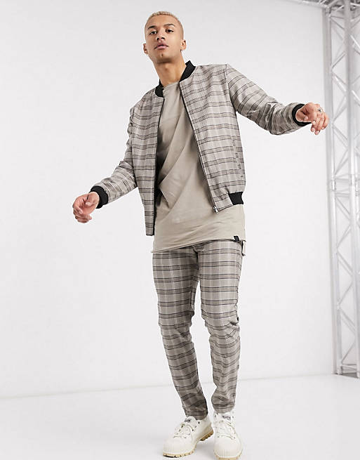 Soul Star - Coordinato giacca e pantaloni a quadri