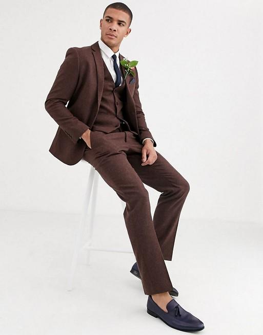 Твидовый костюм кроя слим Harry Brown