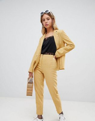 Wild Honey - Ensemble avec blazer et pantalon à carreaux