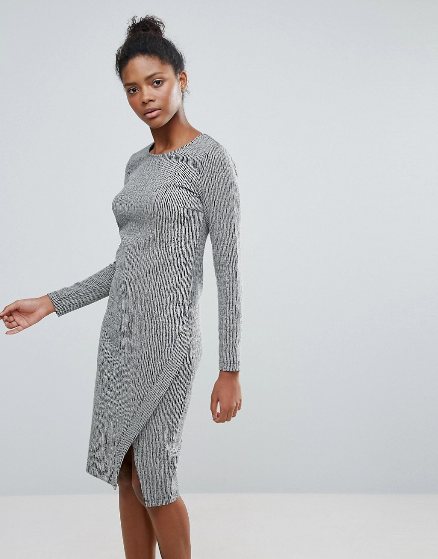 Vila Long Sleeve Dress With Wrap Detail