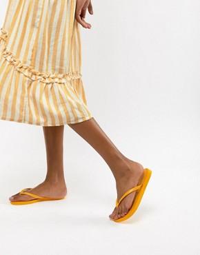 Havaianas Slim Logo Flip Flops - Banana yellow