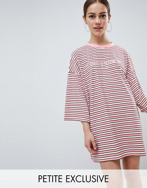 Missguided Petite 'You Know It Girl' T-Shirt Dress - Pink