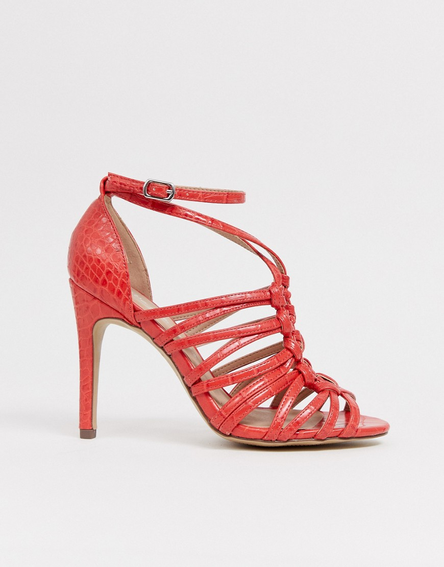 New Look Woven Strapping Detail Sandal In Orange
