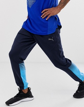 Puma training track joggers in blue