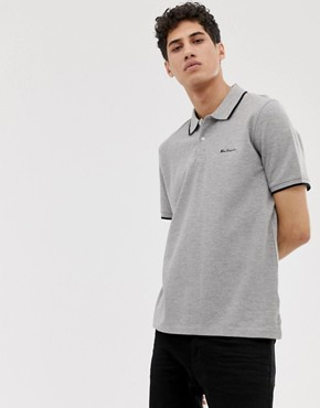 Ben Sherman double tipped pique polo shirt