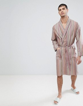 Paul Smith Stripe Dressing Gown - Multistripe