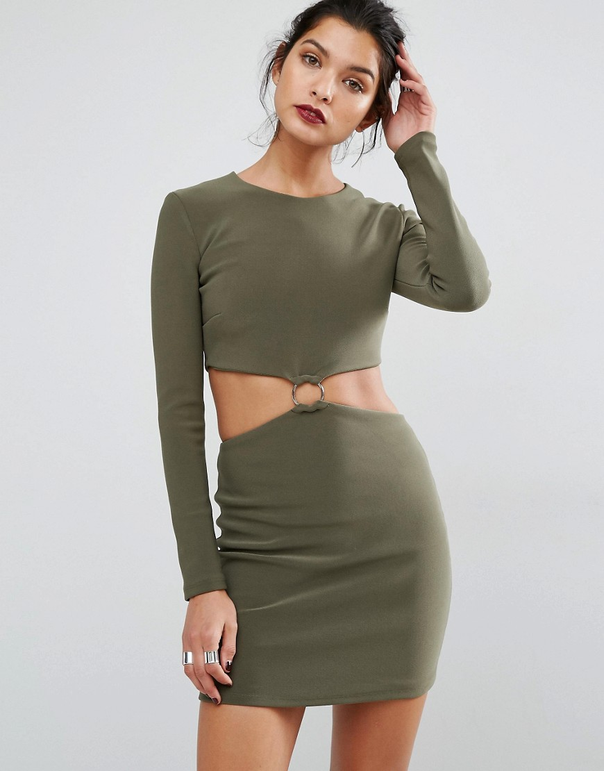 Photo of Bec & Bridge Montana Cut Out L/S Dress - shop Bec & Bridge dresses online