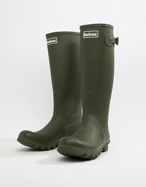Barbour Bede wellington boots in green - Green
