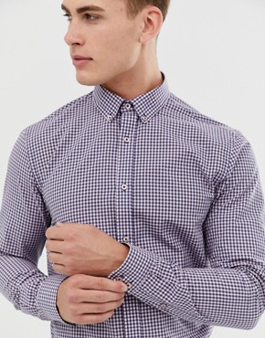Ben Sherman Gingham Shirt In Pink