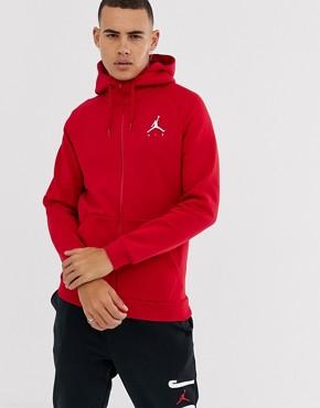 Jordan Jumpman Logo Hoodie in red