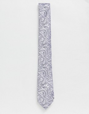 Twisted Tailor wedding tie with delicate floral print in pink