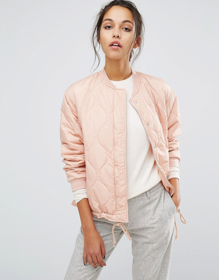 Product photo of Suncoo padded bomber jacket nude