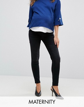 GeBe Maternity over-the-bump skinny jeans in black