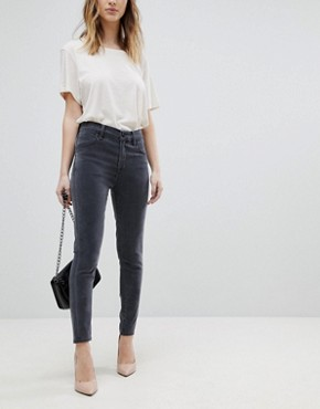 J Brand Alana Super Soft High Waist Skinny Jeans - Dust dark grey
