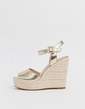 ALDO Ybelani platform wedge sandals in gold