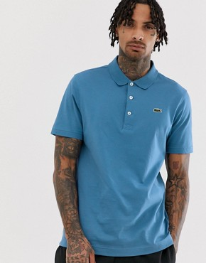 Lacoste Sport logo polo in blue