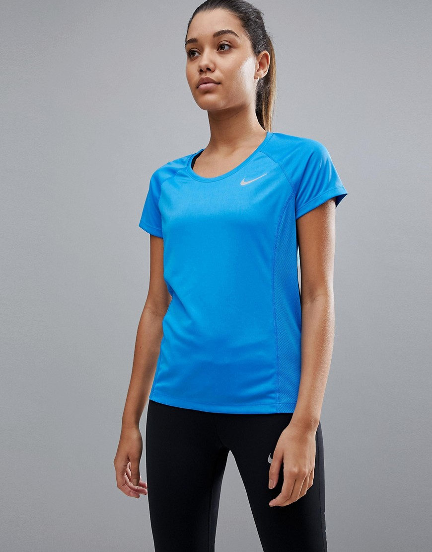 Product photo of Nike running crew neck tee in blue blue