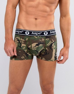 AAPE By A Bathing Ape Camo Boxers - Green