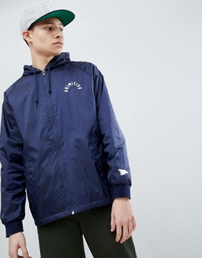 Primitive Big Arch Windbreaker With Back Print In Navy