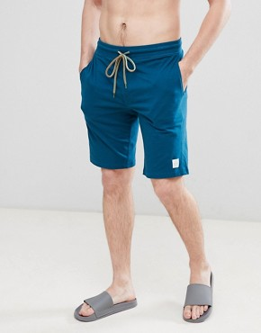 Paul Smith lounge jersey shorts in teal - Teal