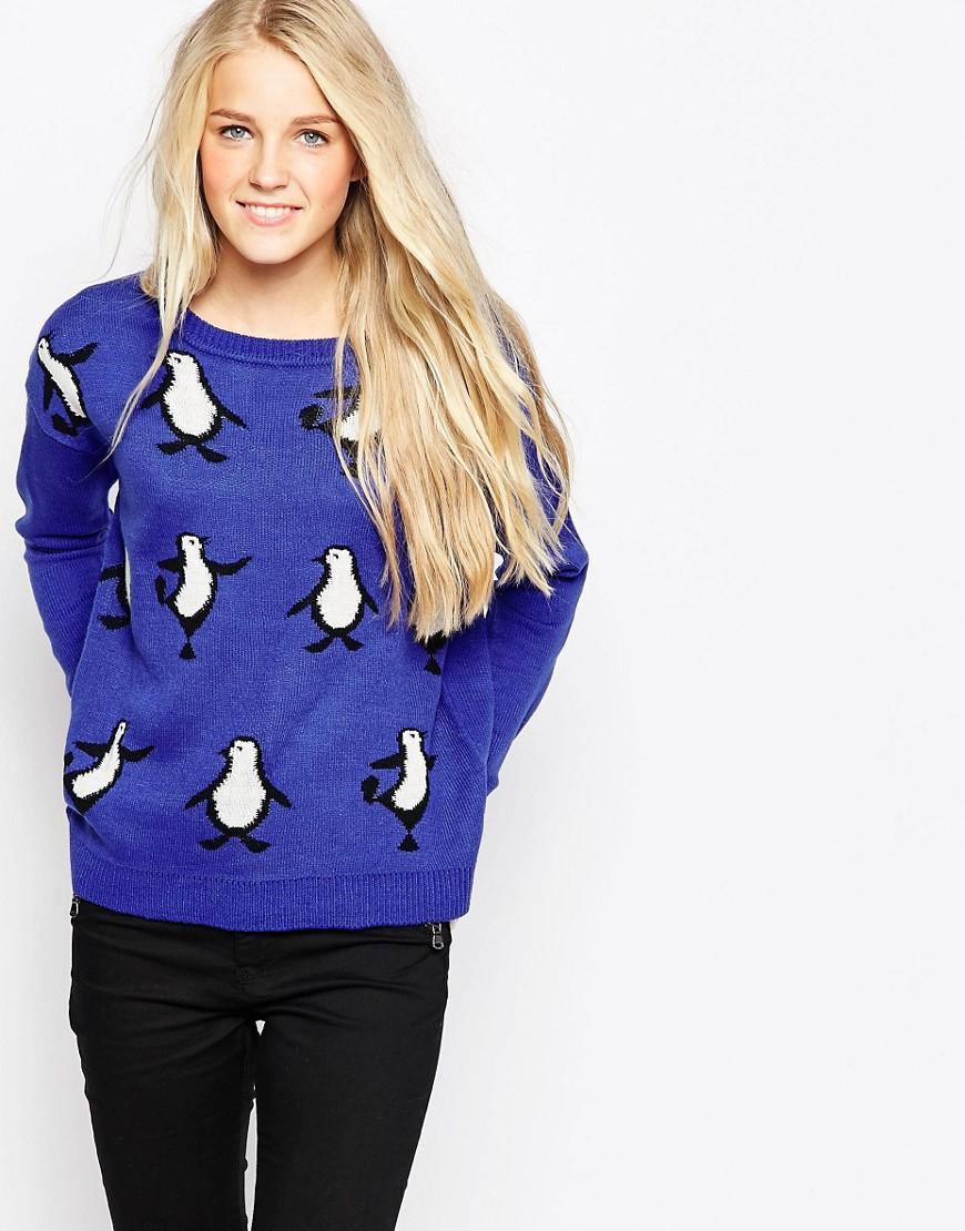Brave Soul Dancing Penguins Christmas Jumper