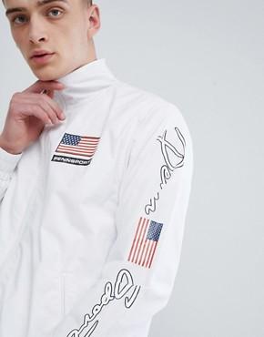 Penn Sport windbreaker jacket in white