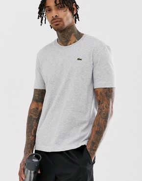 Lacoste Sport small logo t-shirt in grey