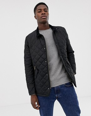 Barbour Chelsea sports quilted jacket in black - Black