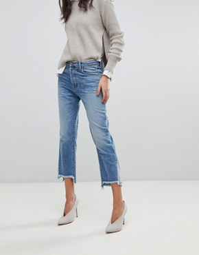 J Brand Wynne Crop Straight Leg Jean With Raw Hem - Hydra