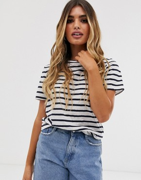 Pieces stripe t-shirt