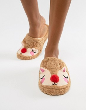 Chelsea Peers Fluffy Reindeer Slipper