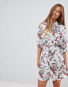 Gilli floral print shirt dress