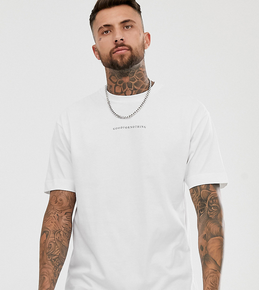 Good For Nothing - Oversized T-shirt in wit met logo - Wit