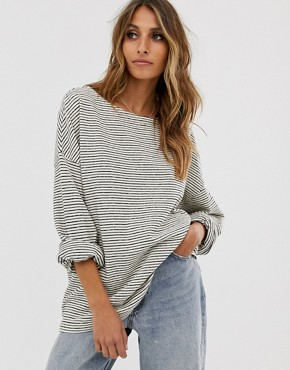 AllSaints Adelise stripe long sleeve top