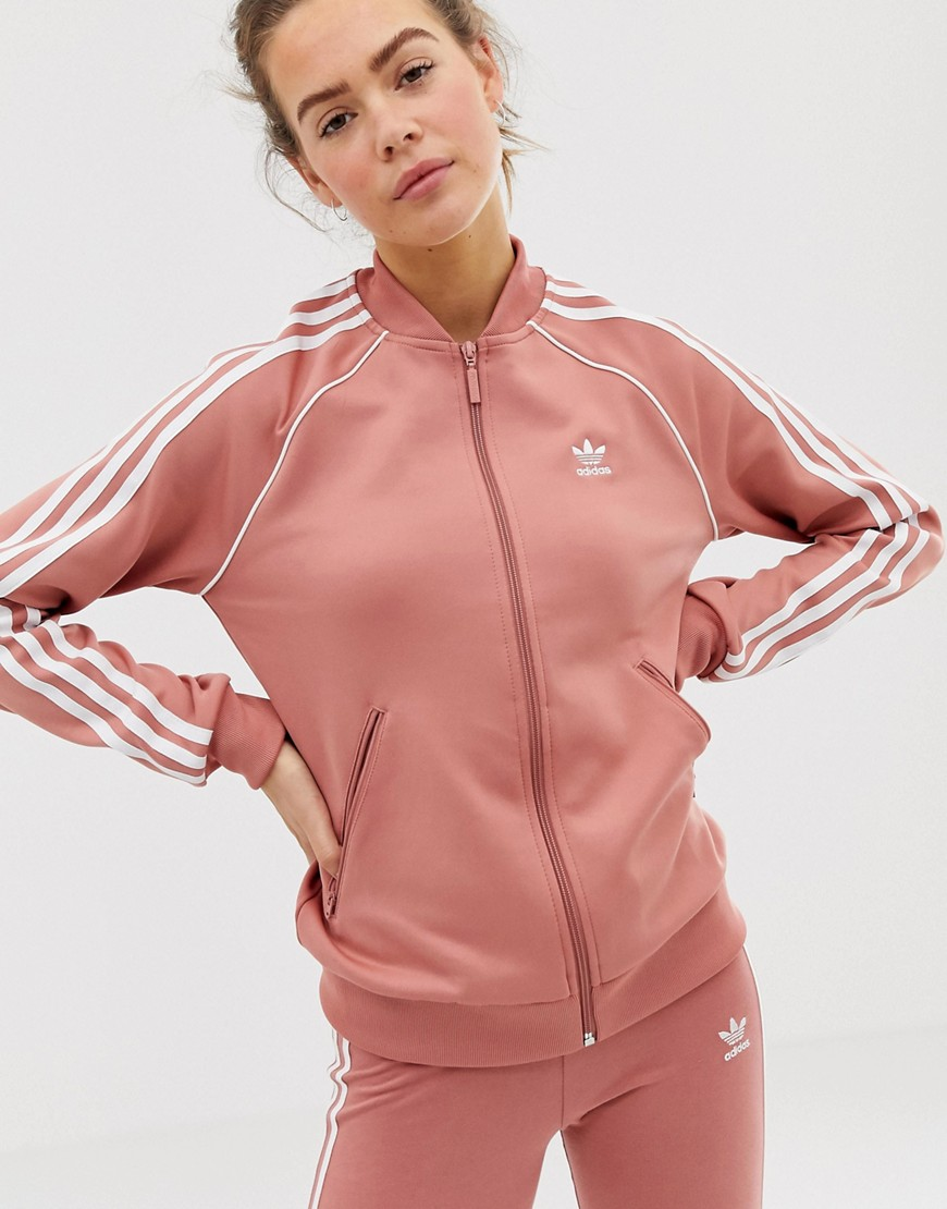 adidas Originals track jacket - Ash pink